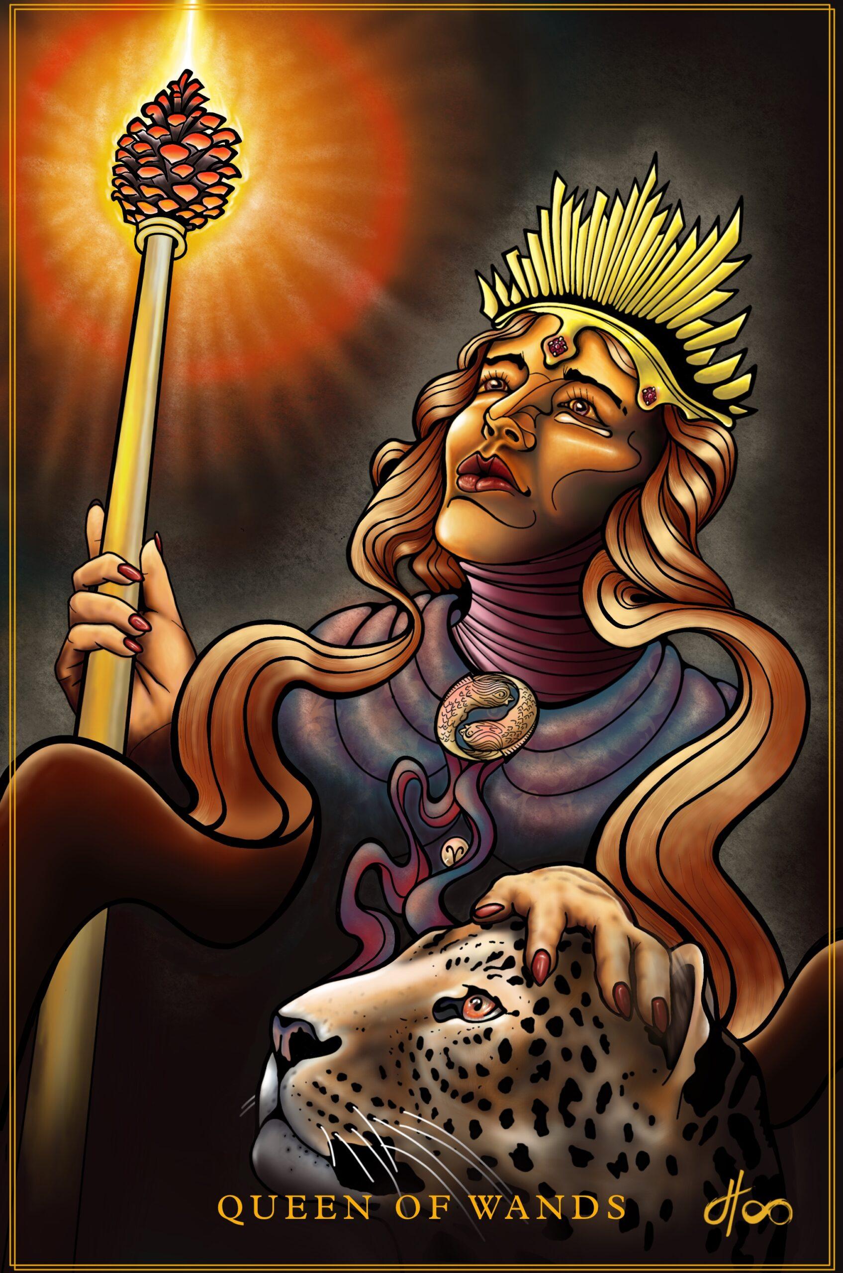 Jacob Hoo Tarot Queen of Wands