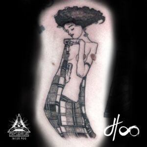 Jacon Hoo Schiele Tattoo