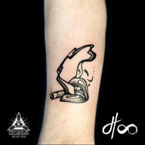 Jacob Hoo Line Tattoo